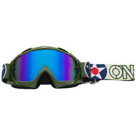 O'Neal B-10 Lunettes de protection, warhawk green/sand-radium blue